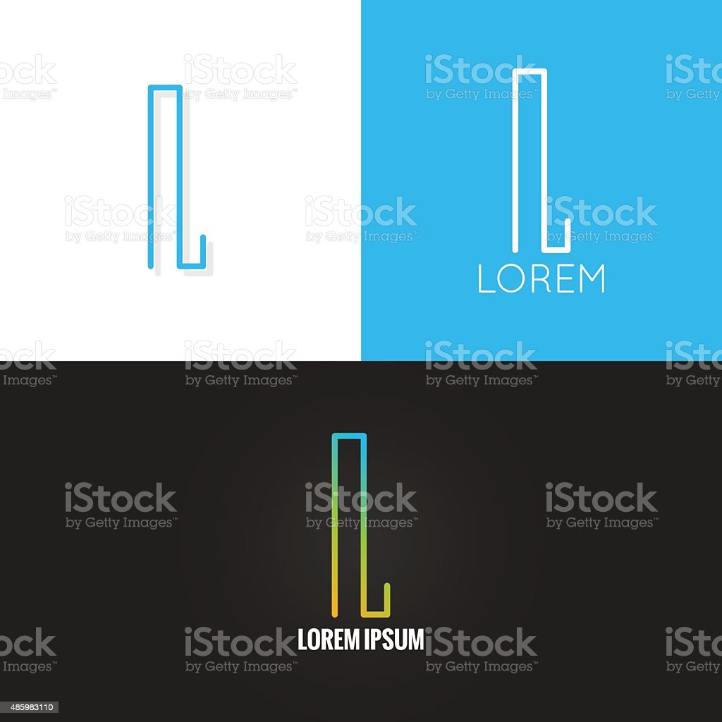 letter L logo alphabet design icon set background vector art illustration
