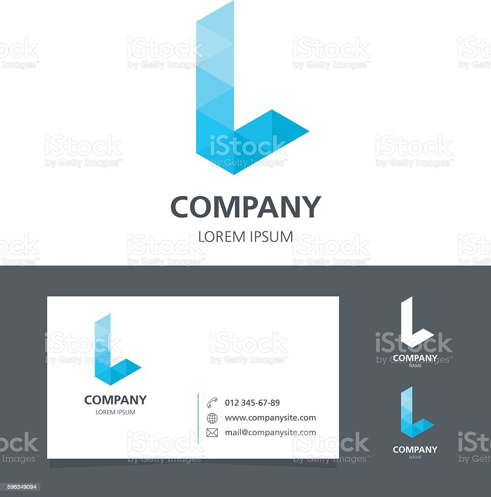 Letter L - Logo Design Element with Business Card - illustration vector art illustration