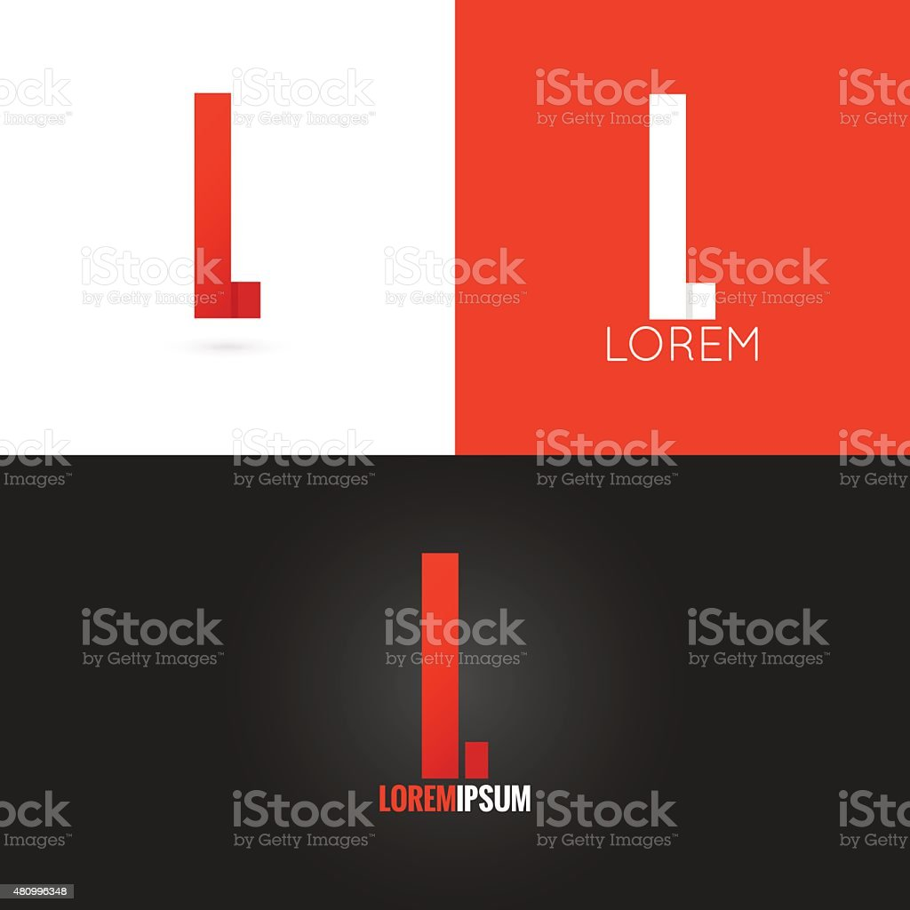 letter L logo design icon set background vector art illustration