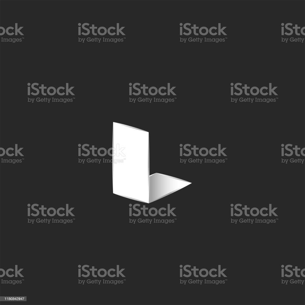 Letter L Logo Isometrische Form Kreative Idee Emblem Für