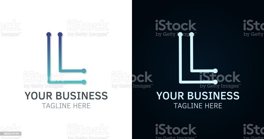 Buchstabe L Minimal Logo Icondesign Vektor Vorlage Grafikelemente ...