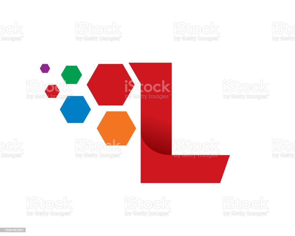 letter l template design vector emblem concept design creative symbol icon royalty