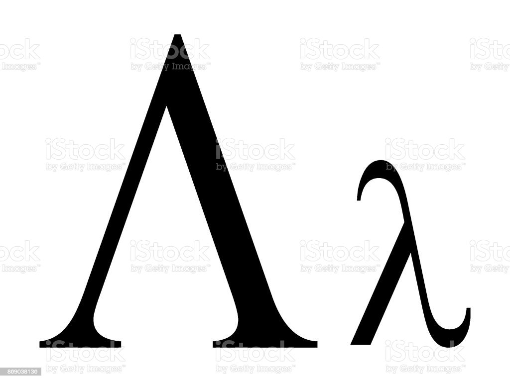 Letter Lambda Stock Vector Art More Images Of Alpha Cell 869038136
