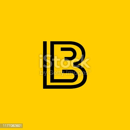 LB letter icon is designed in vector format.