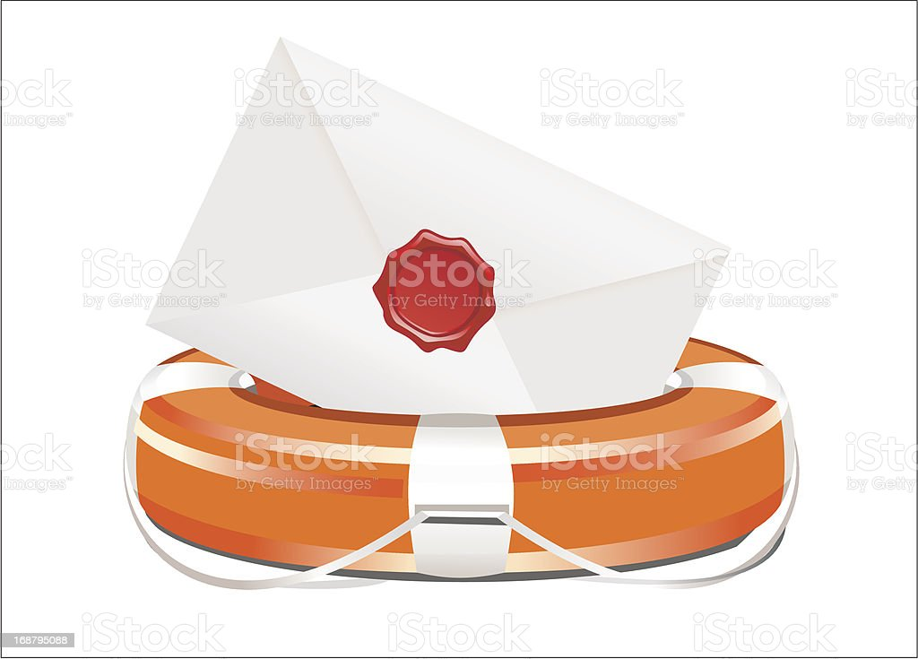 letter Lifebuoy royalty-free stock vector art