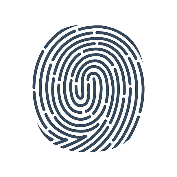 o レター線アイコンをクリックします。ベクトル指紋デザインです。 - id盗難点のイラスト素材/クリップアート素材/マンガ素材/アイコン素材