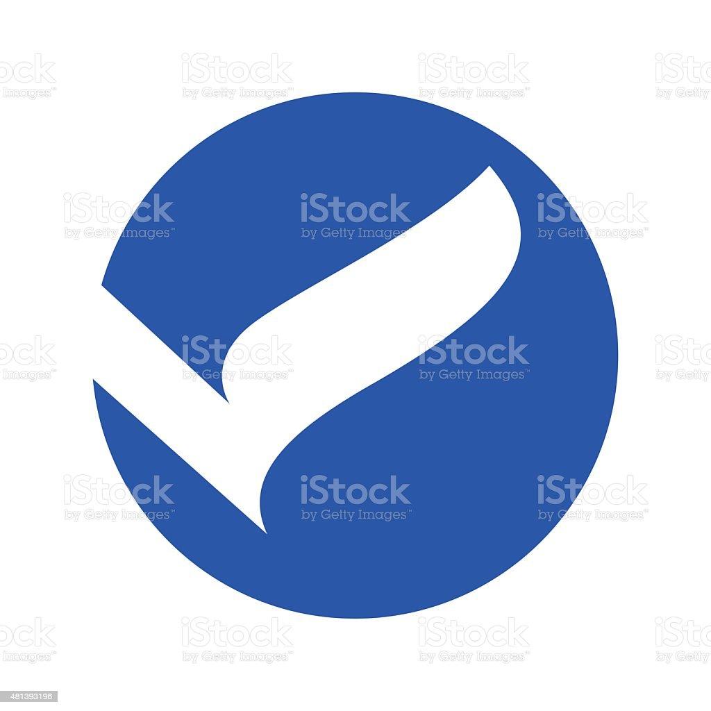 V letter line icon vector art illustration