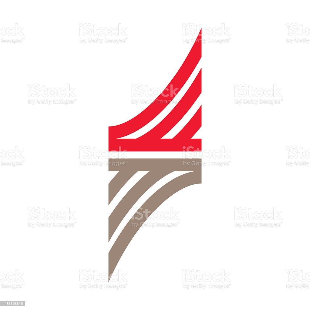 S letter line icon vector art illustration