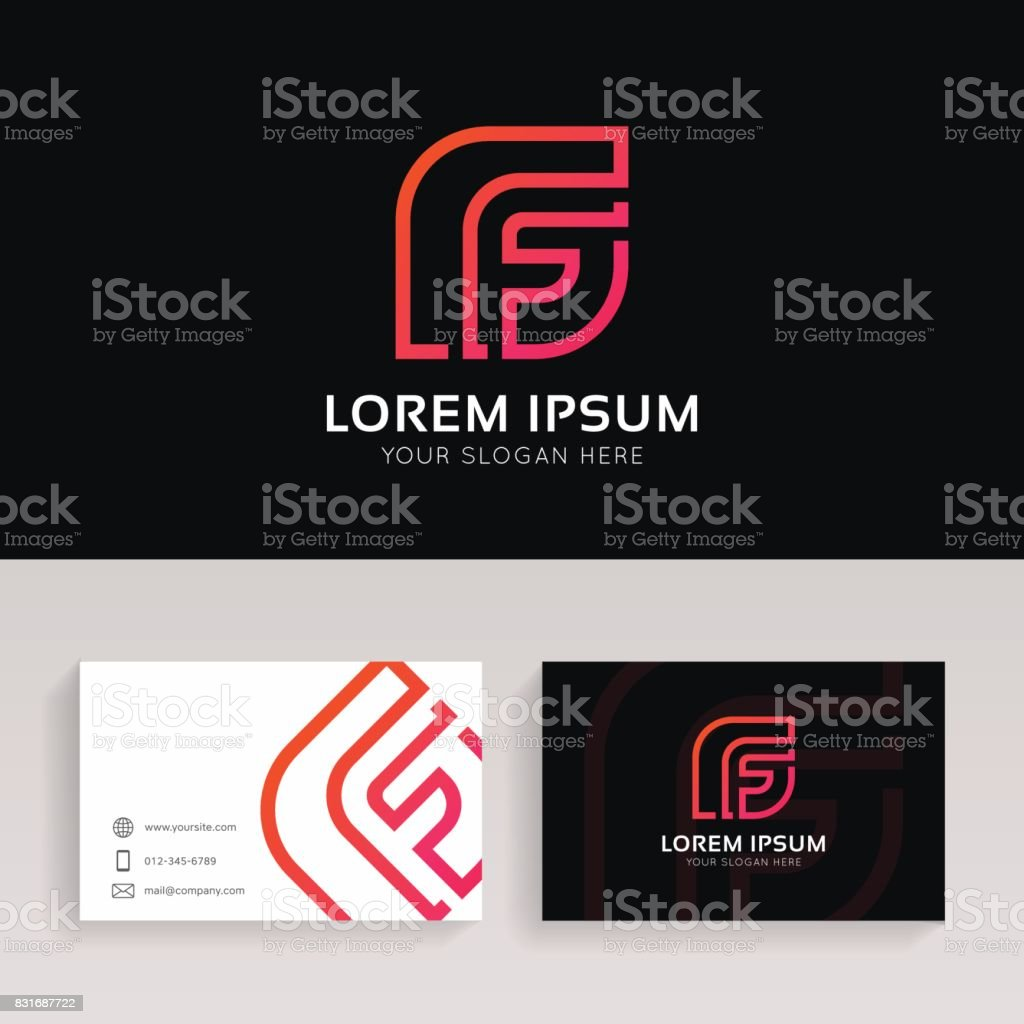 F letter linear icon sign with brand business card vector design f letter linear icon sign with brand business card vector design f letter linear icon reheart Choice Image
