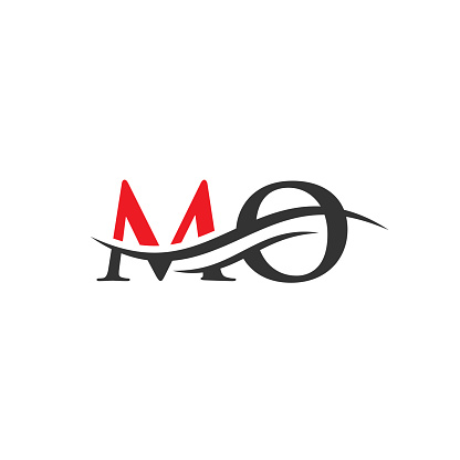 MO Letter Linked Logo for business and company identity. Initial Letter MO Logo Vector Template.