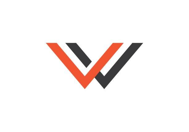 W Letter Logo Business W Letter Logo Business Template Vector icon w logo stock illustrations