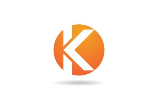 K  Letter Logo Business K  Letter Logo Business Template Vector icon k logo stock illustrations