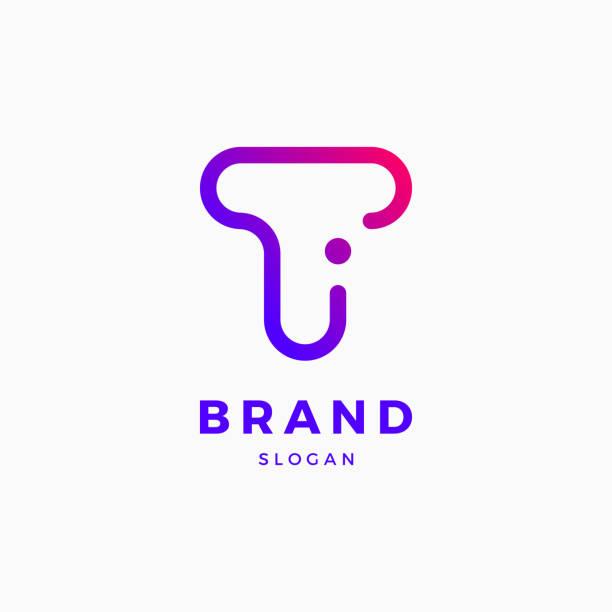 T I Letter Logo Design Template T I Letter Logo Design Template letter t stock illustrations