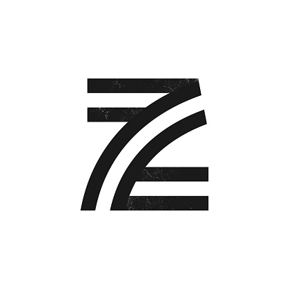 Z letter logo formed by two parallel lines with noise texture.