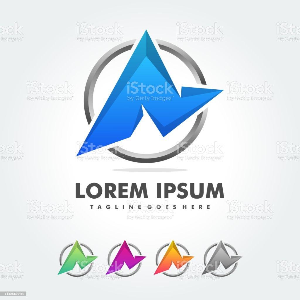 Ein Letter Logo Icon Colorful Abstract Mosaic Pattern Design Vorlage Element In Grossbuchstaben Typ Charaktere Logotype Symbole Stock Vektor Art Und