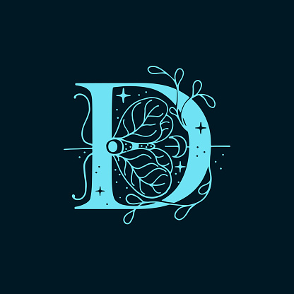 D letter logo in the astrological style.