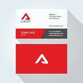 Letter Alphabet Logo Modern Simple Abstract. Corporate Business card design vector template