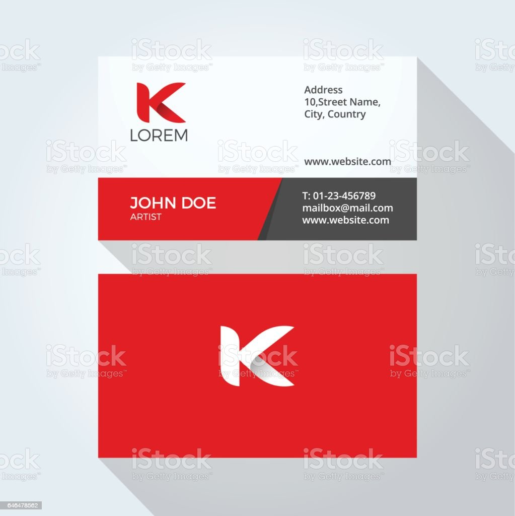 K letter logo modern simple abstract corporate business card design k letter logo modern simple abstract corporate business card design template royalty free k cheaphphosting Image collections