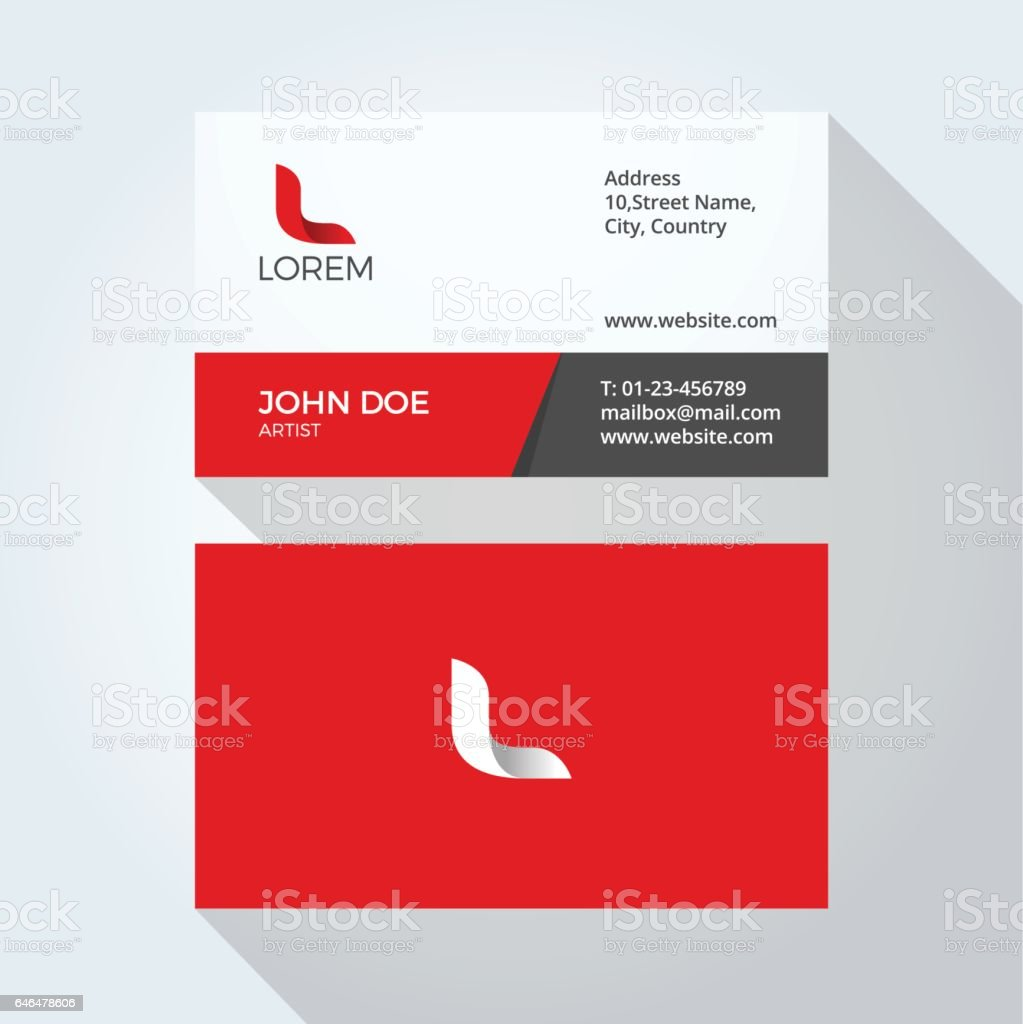 L Letter Logo Modern Simple Abstract Corporate Business Card Design ...