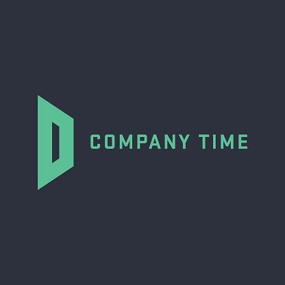 D letter logo template. Colorful vector design