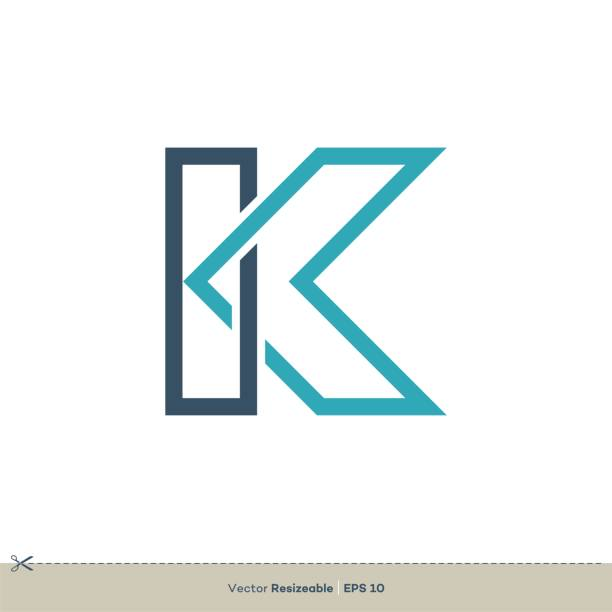 k 字母徽標範本插圖設計。向量 eps 10。 - k logo 幅插畫檔、美工圖案、卡通及圖標