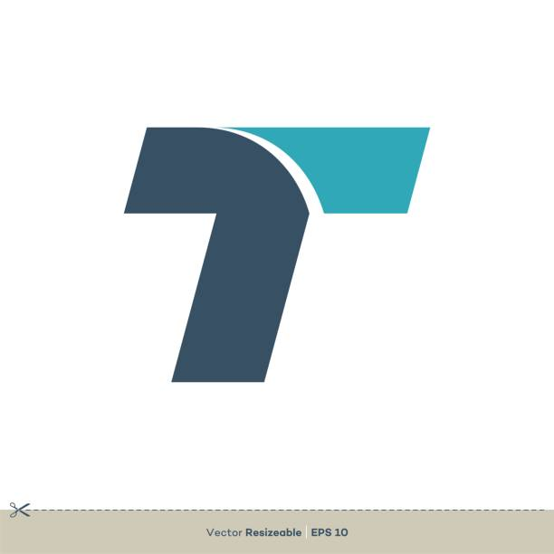 T letter logo template Illustration Design. Vector EPS 10. T letter logo template Illustration Design. Vector EPS 10. letter t stock illustrations