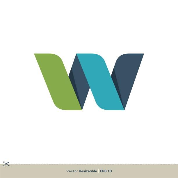 W Letter Logo Template Illustration Design. Vector EPS 10. W Letter Logo Template Illustration Design. Vector EPS 10. w logo stock illustrations