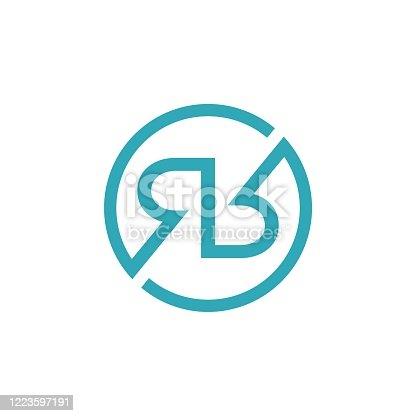 R R Letter Logo Template Illustration Design. Vector EPS 10.