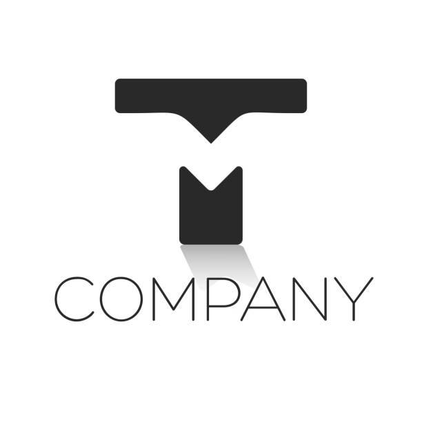 TM/MT letter logo TM/MT letter logo letter t stock illustrations