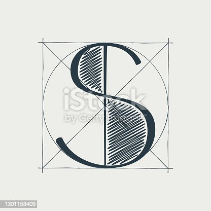 Vector vintage serif character perfect to use in any architecture labels, boutique posters, luxury identity, etc.