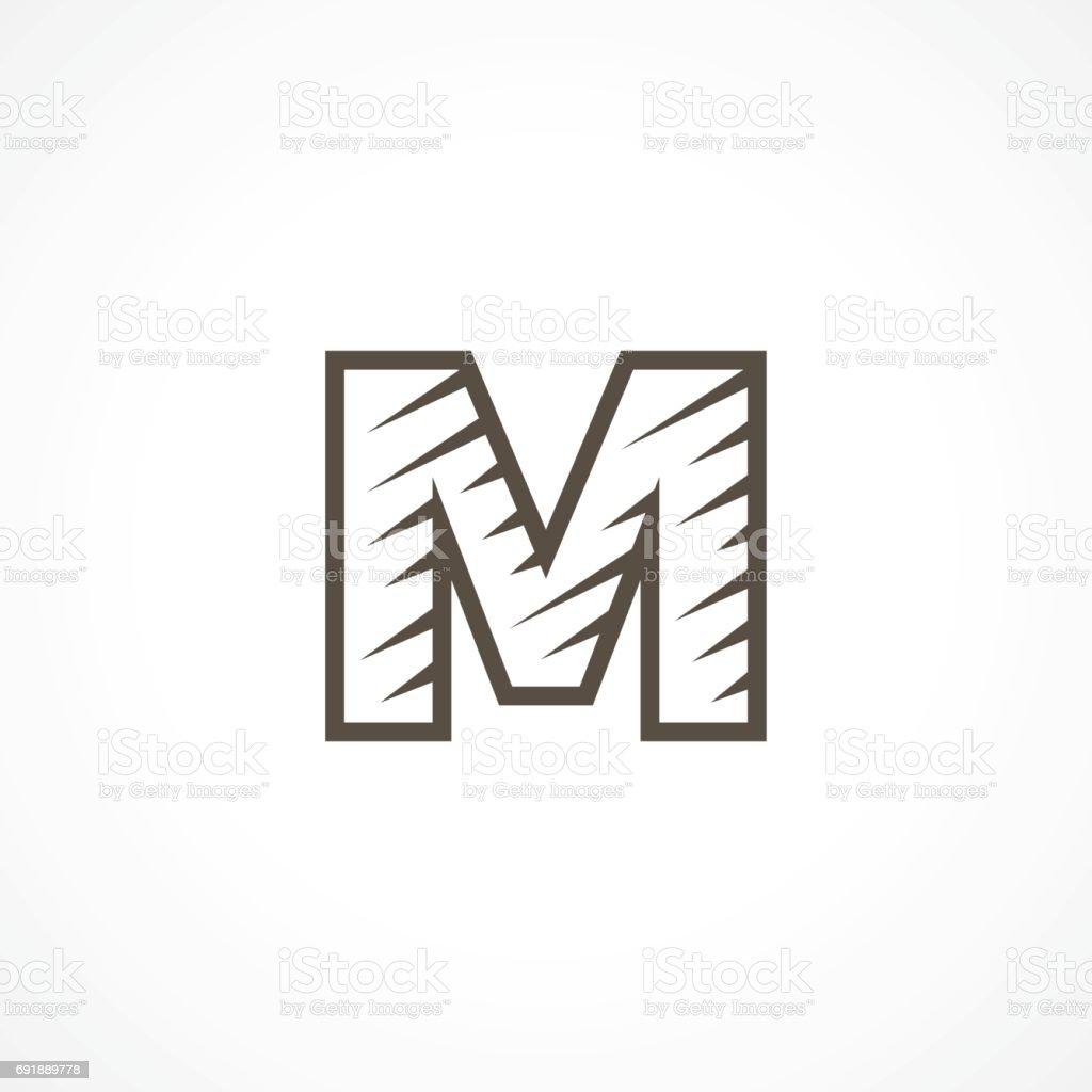 文字 m ロゴ アイコンのデザイン テンプレート要素 アイコンのベクター