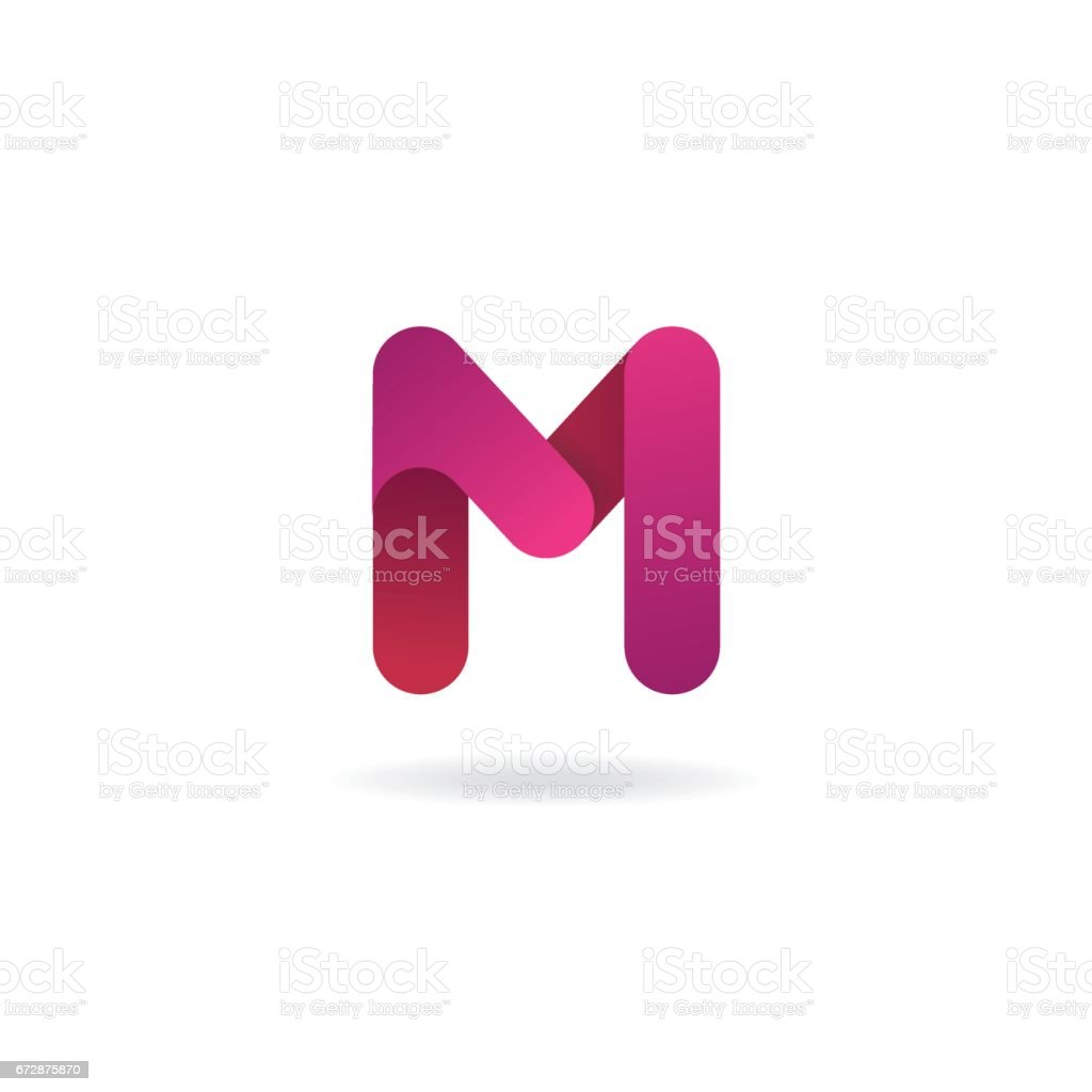 Letter M Icon Vector Icon Design Template Color Sign Stock Vector ...
