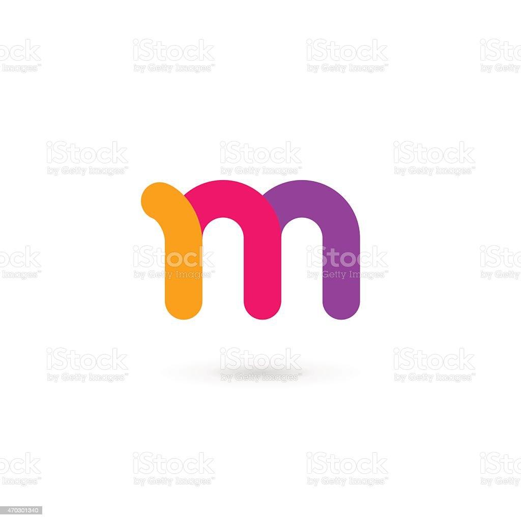 Letter M icon vector art illustration