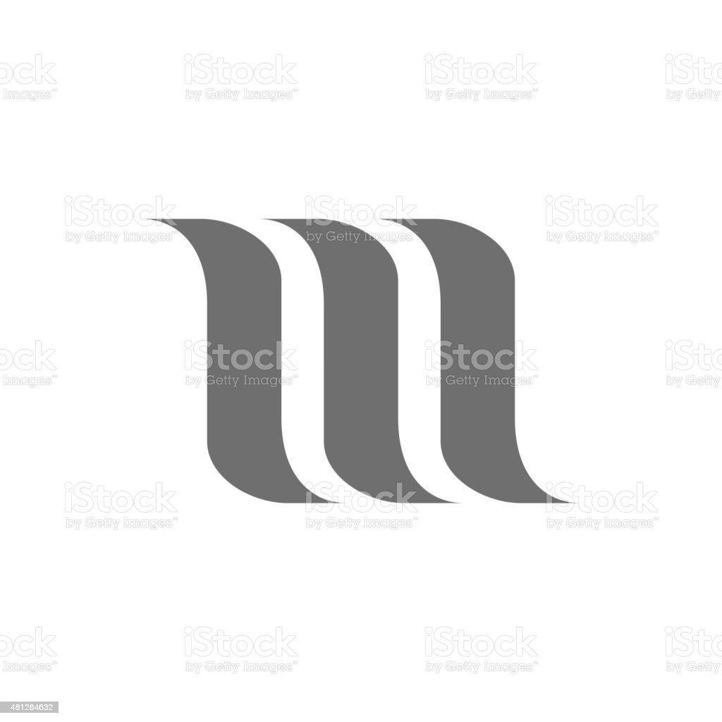 Letter M Logo Concept Icon. Vector vector art illustration
