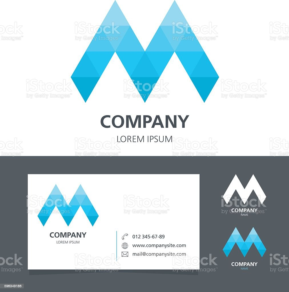 Letter M Logo Design Element With Business Card Illustration