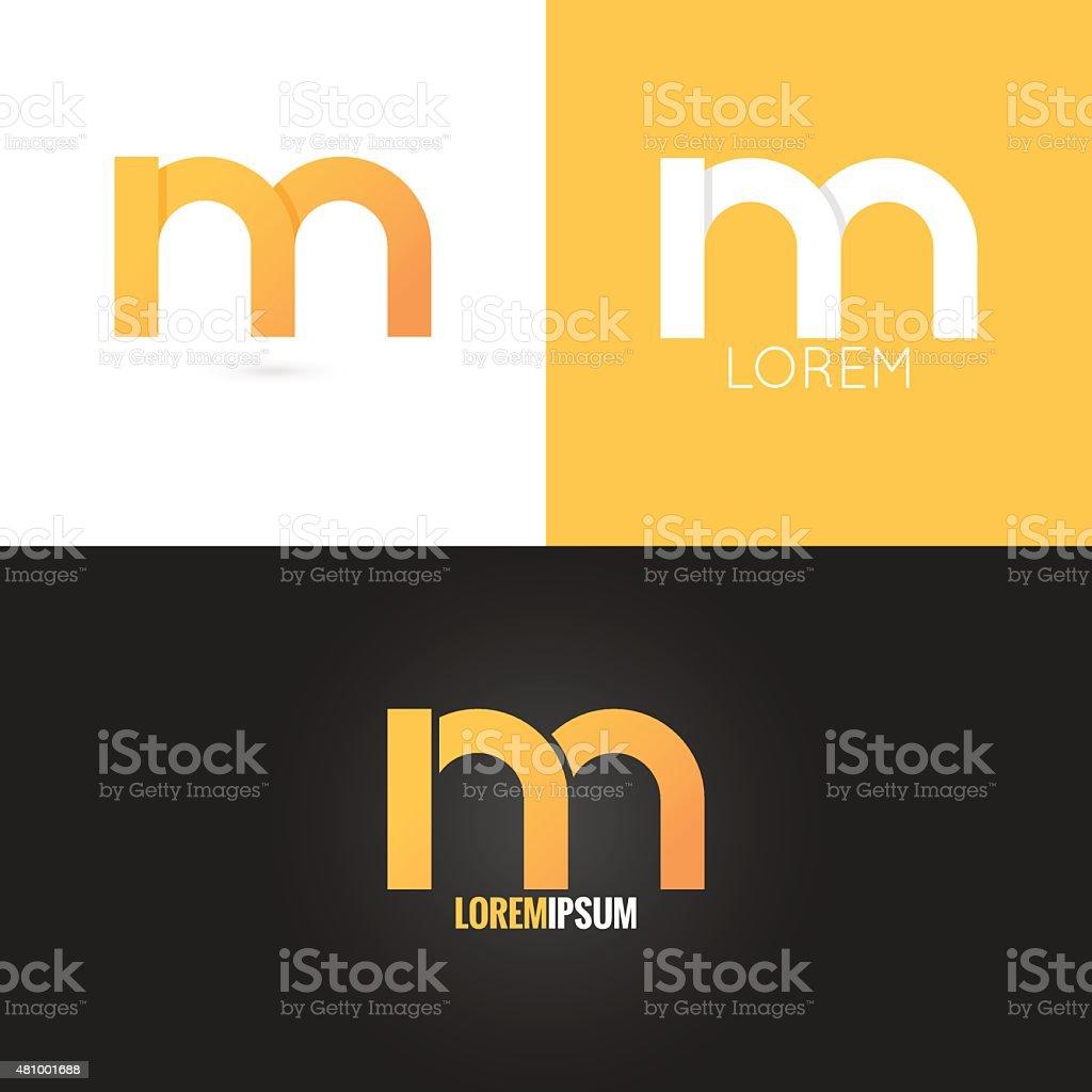 letter M logo design icon set background vector art illustration