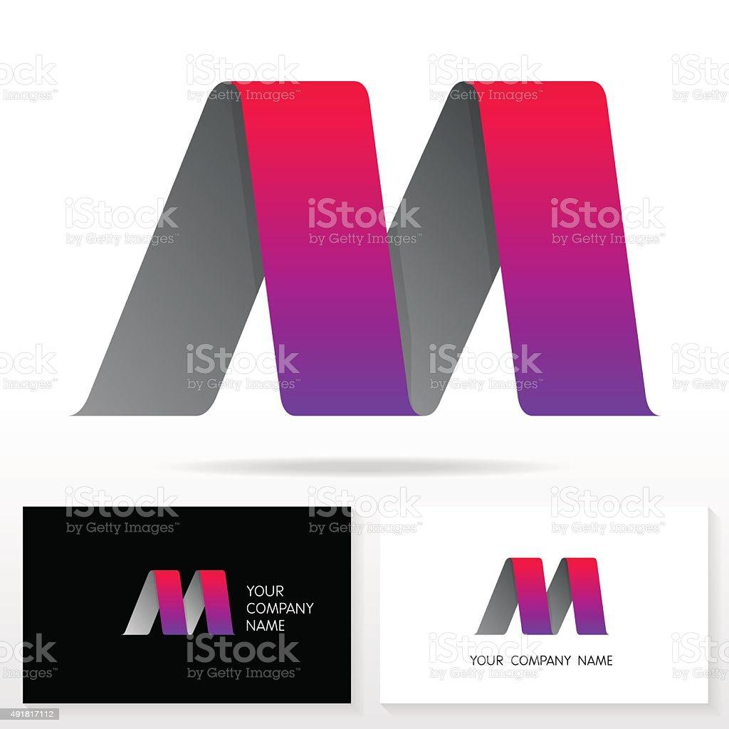 Letter M logo icon design template elements - Illustration. vector art illustration