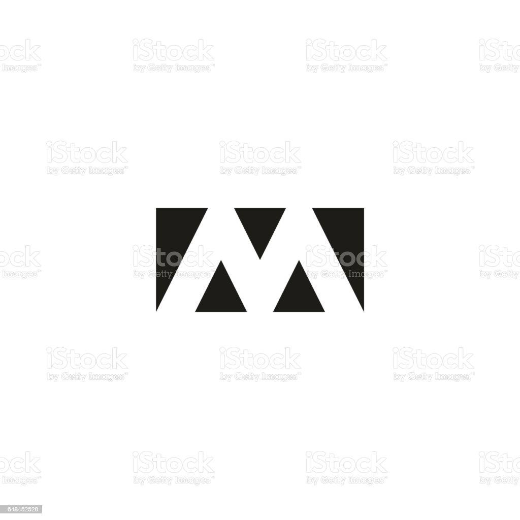 Fabuleux Icône Du Web Logo Lettre M Forme Géométrique Rectangle Noir Et #DJ_33