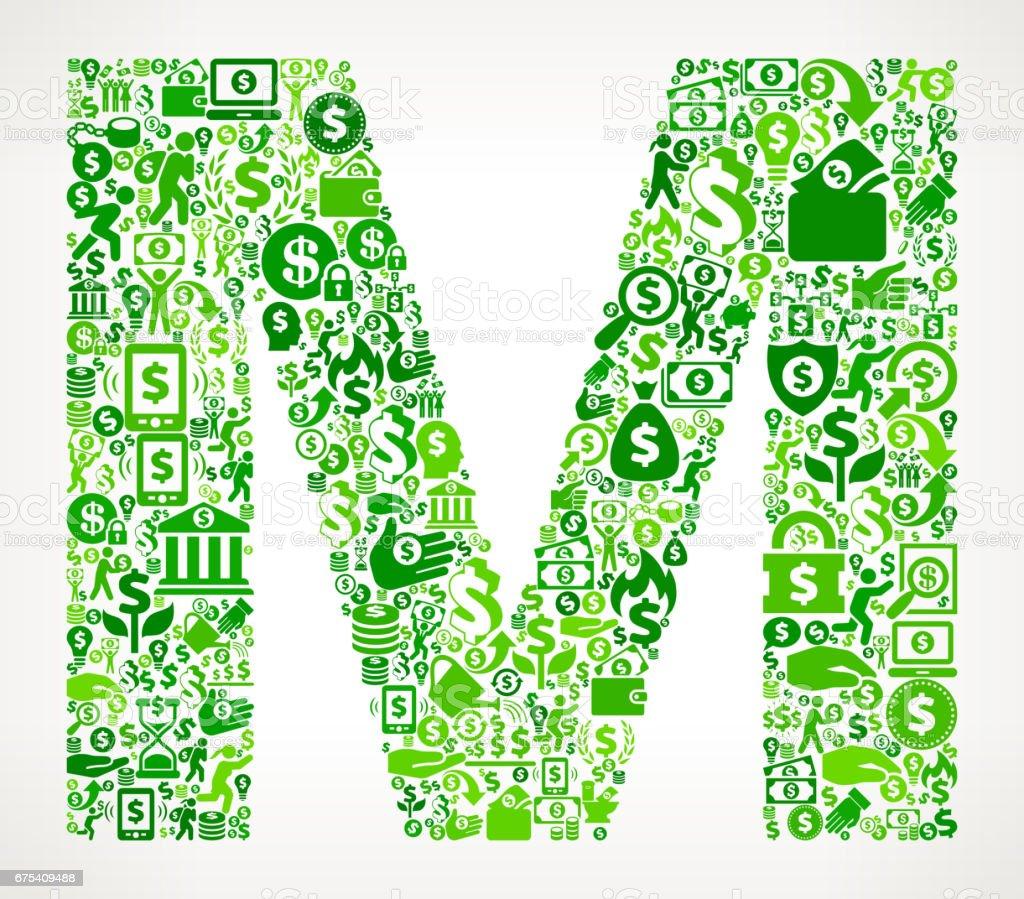 Harf M para ve Finans yeşil vektör simge arka plan royalty-free harf m para ve finans yeşil vektör simge arka plan stok vektör sanatı & abd'nin daha fazla görseli
