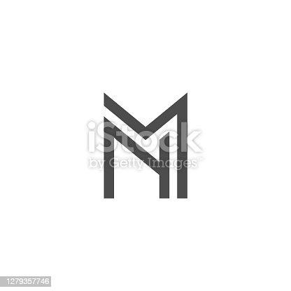 istock Letter M N Logo Lettermark MN Monogram - Typeface Type Emblem Character Trademark 1279357746
