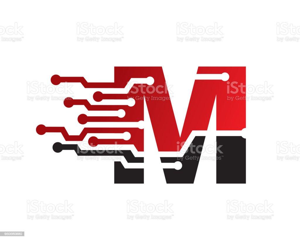 文字 m テンプレート デザインエンブレムデザイン コンセプト創造的な