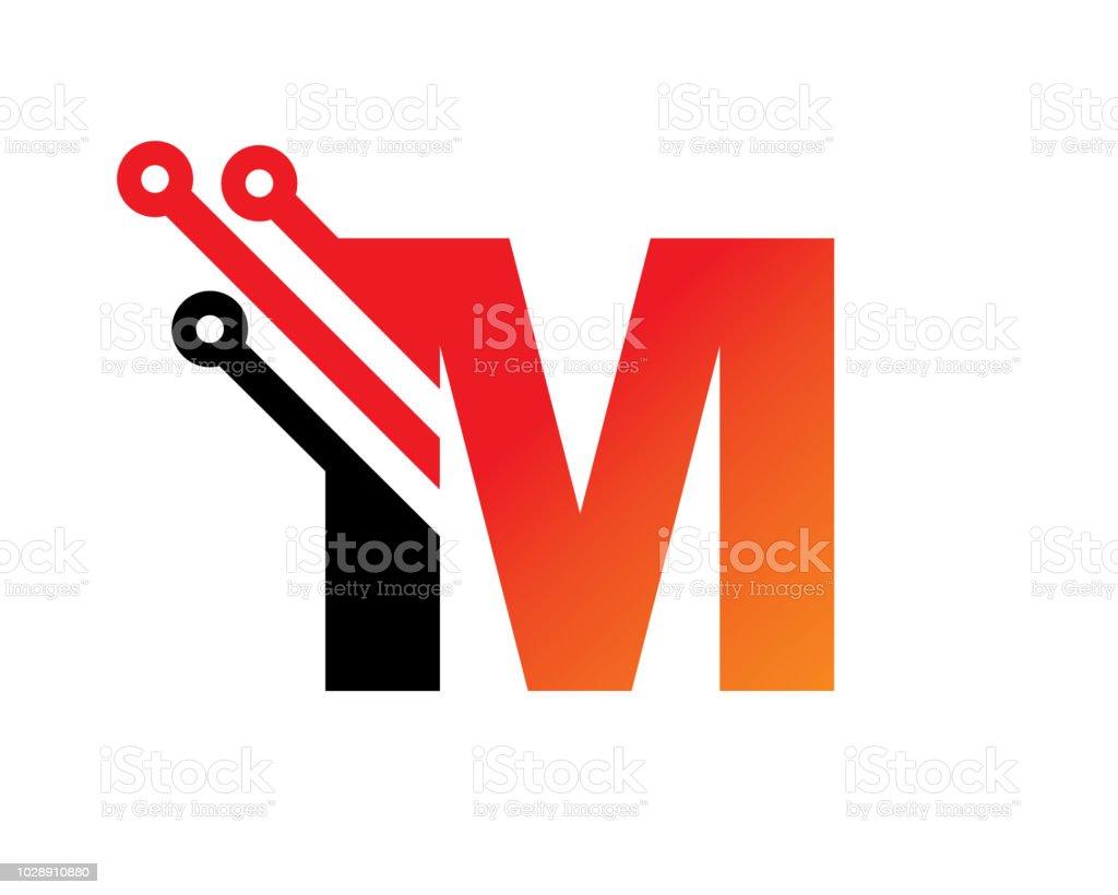 文字 m テンプレート デザイン ベクトルエンブレムコンセプト デザイン