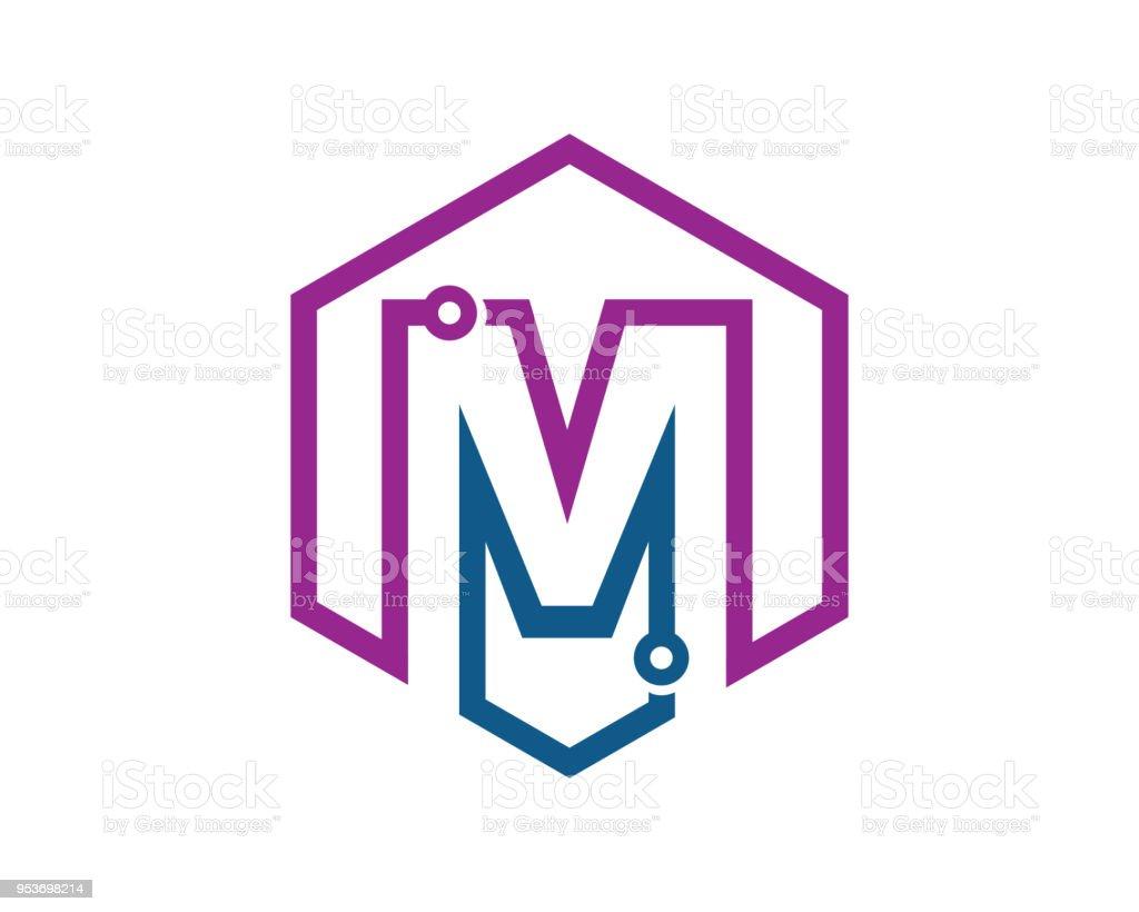 文字 m テンプレート デザイン ベクトルエンブレムデザイン コンセプト