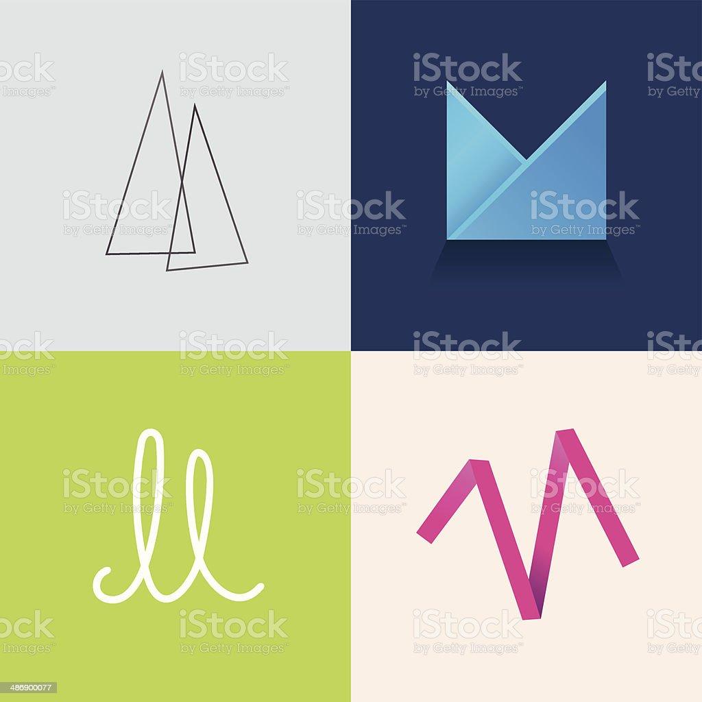 Letter M vector art illustration