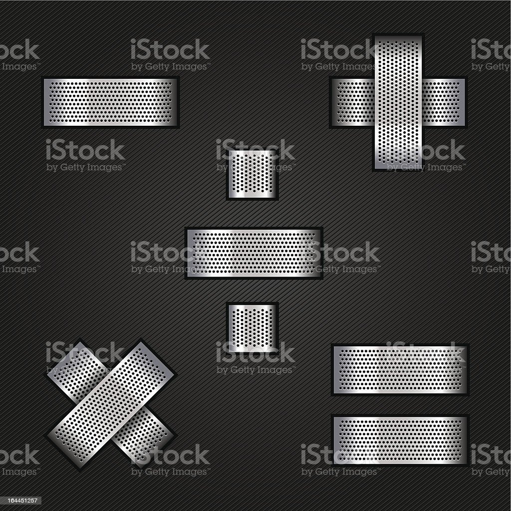Letter metal chrome ribbon - Mathematical signs royalty-free letter metal chrome ribbon mathematical signs stock vector art & more images of abstract