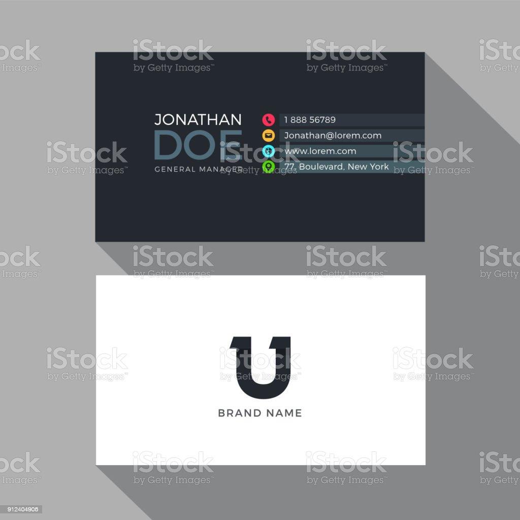 U Letter Modern Alphabet Business Card Design Template Stock Vector ...