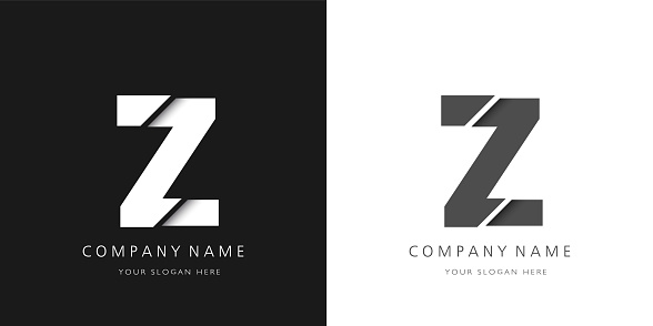Z letter modern logo broken design