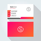S Letter Modern Minimal Abstract Alphabet Business card design template