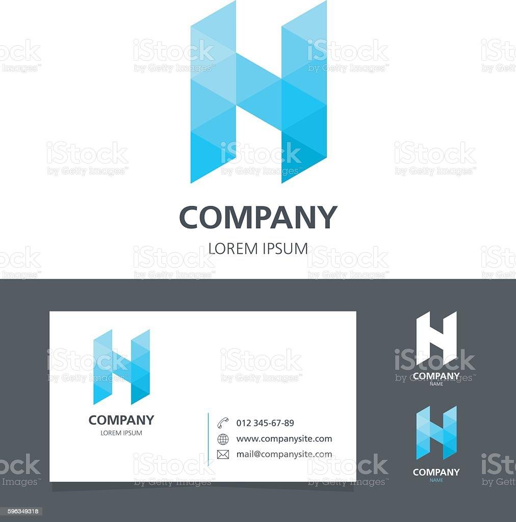 Letter N - Logo Design Element with Business Card - illustration royalty-free letter n logo design element with business card illustration stock vector art & more images of abstract