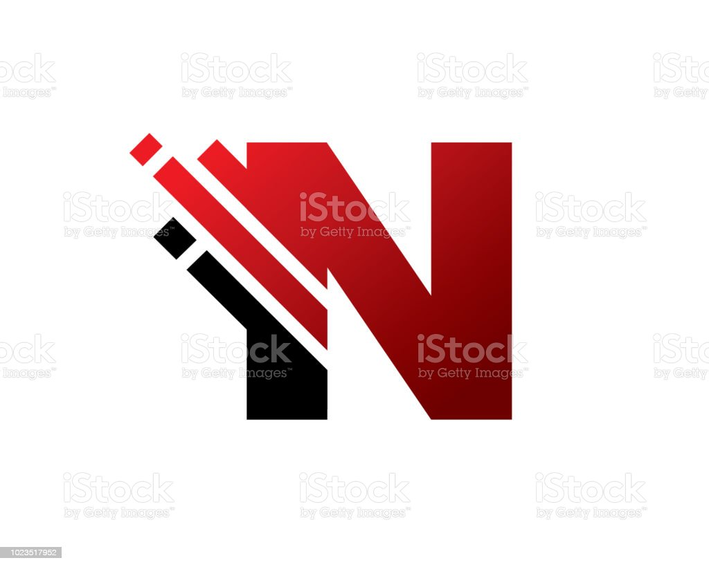 letter n symbol design template stock vector art more images of